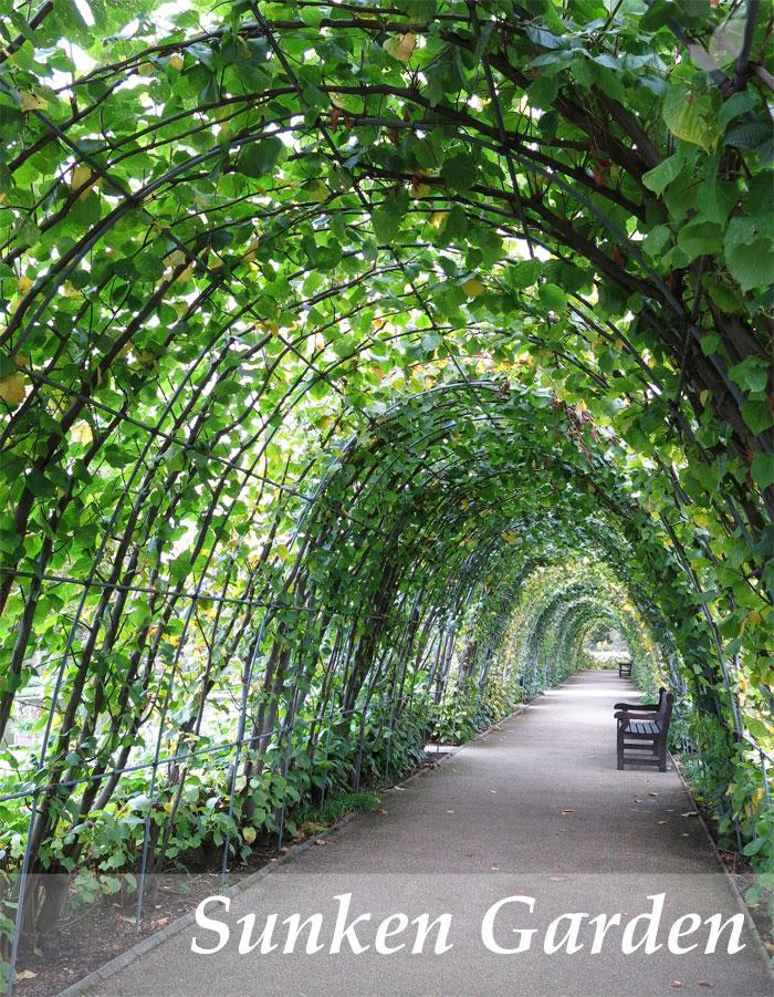The sunken garden en los jardines de kensigton paisaje libre for Paisajes de jardines