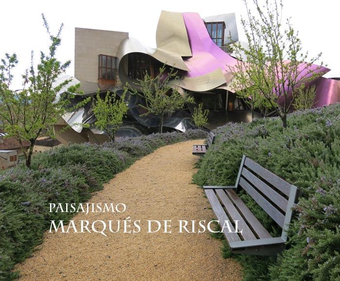 Paisajismo y jardines de las bodegas Marqués de Riscal | Paisaje Libre
